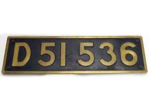 蒸気機関車ナンバープレート D51536 買取