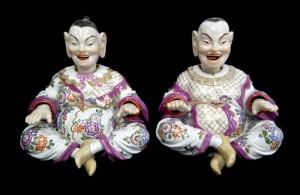 マイセン 1級品 パゴダ人形 バイオレット